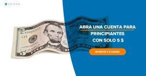 Ontega ofrece una inversión baja para aprender el comercio en línea tranquilamente